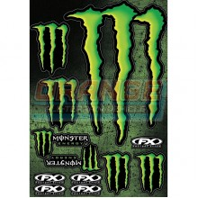 Комплект наклеек Factory Effex Monster Energy