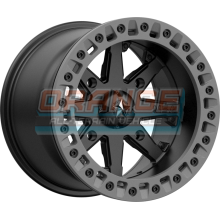 Диск колесный с бедлоком MSA M31 LOK2 Satin Black Matte Gray Ring, R15x7, 4x137 M31-05737